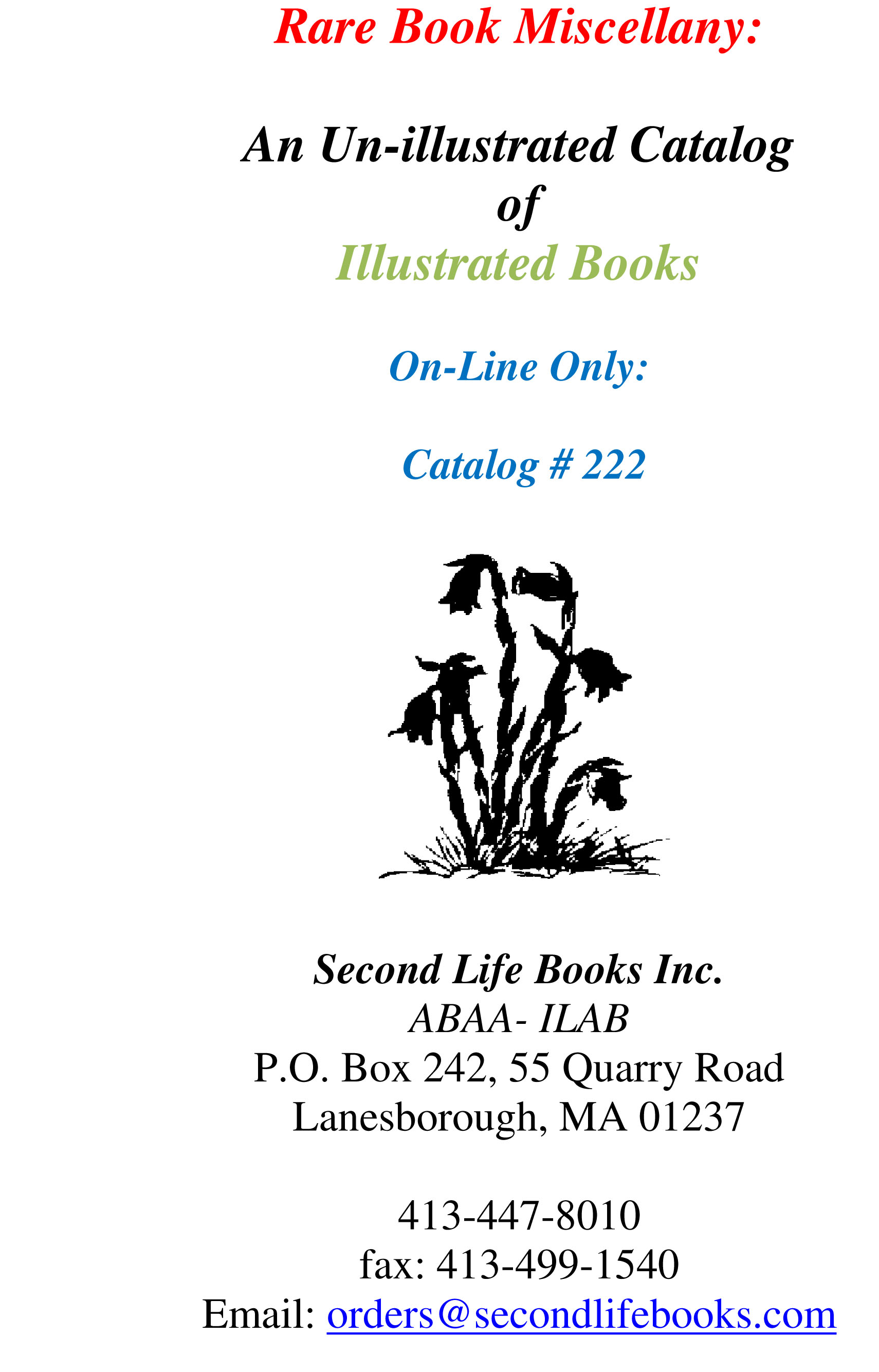 Catalog # 222: Illustrated Books
