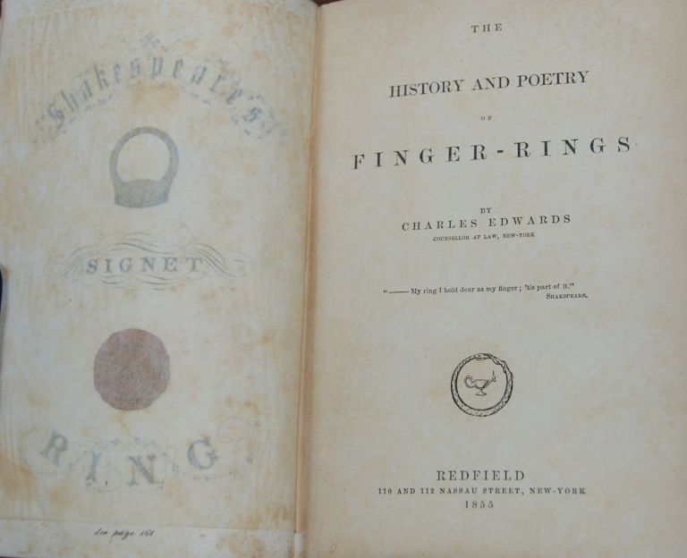 THE HISTORY AND POETRY OF FINGER-RINGS. Charles EDWARDS.