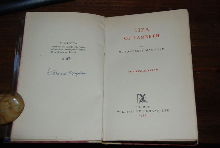 LIZA OF LAMBETH. W. Somerset MAUGHAM.