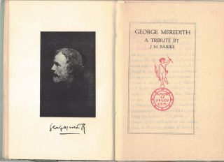 GEORGE MEREDITH; A tribute. J. M. BARRIE