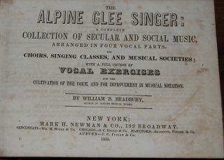 THE ALPINE GLEE SINGER:; a complete collection of secular and social music, arranged in four...