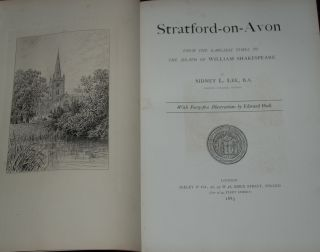 STRATFORD-ON-AVON; from the earliest times to the death of William Shakespeare, with 45...