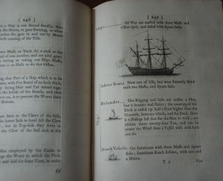 A NAVAL EXPOSITOR,; Shewing and Explaining the Words and Terms of Art Belonging to the Parts Qualities and Proportions of Building Rigging, Furnishing & Fitting a Ship for Sea. Also all species that are received into the Magazines, and on what services they are used and Issued. Together with the Titles of all the Inferior Officers belonging to a ship. With an Abridgement of the Respective Duties..