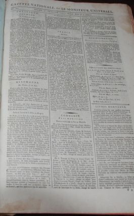 GAZETTE NATIONALE; ou Le Moniteur Universel. nos. 182-365. Jeudi, 1st Juillet 1790 - Second Annee...