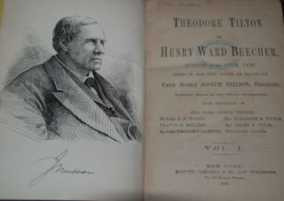 TILTON, THEODORE vs. HENRY WARD BEECHER; action for Crim. Con. tried in the city court of...