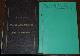 MEMOIR OF THE DISTINGUISHED MOHAWK INDIAN CHIEF, SACHEM AND WARRIOR CAPT. JOSPEH BRANT; compiled from the most reliable and authenic records incuding a brief history of the principal events of his life, with an appendix and portrait