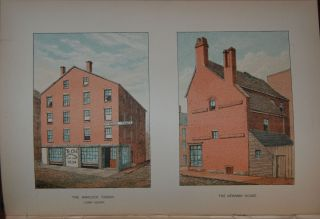 HOMES OF OUR FOREFATHERS IN BOSTON, OLD ENGLAND, AND BOSTON, NEW ENGLAND; from original drawings by ...