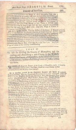 Anno Regni Regis GEORGE III. Primo, 1761. Lord's-Day] AN ACT PASSED BY THE GREAT AND GENERAL...