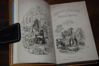 THE LIFE & ADVENTURES OF MARTIN CHUZZLEWIT; With 40 illustrations by 'Phiz' including frontispiece and vignette title page (by H. K. Brown).